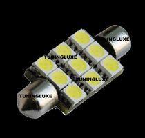 2 AMPOULE NAVETTE C5W LED ANTI ERREUR-WHITE